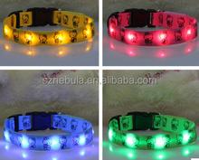 2015 New design cheap price nylon custom dog collars