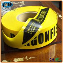 Black / Yellow Custom Size Hazard Warning Reflective Marking Tape