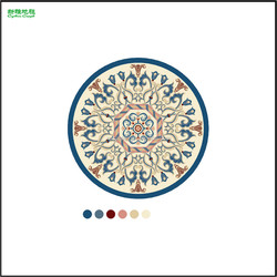 Handmade Flower Shaped Printing rug