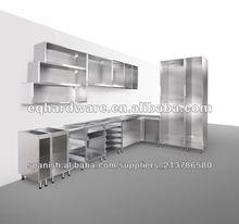 de acero inoxidable de gabinete de la cocina de la canal