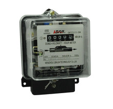 single phase terminal block electric meter mechanical energy meter black iron case electricity meter