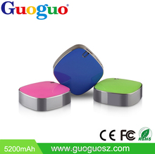 Guoguo hot A grade square colorful 2A Output 4400mAh portable dual usb arun power bank