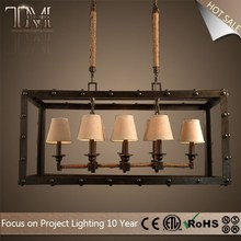 large 4/8 lights pendant lamp fabric lamp cover square pendant lamp