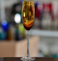 Handmade colored champagne glasses for wedding