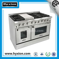 Free standing Stainless steel 48'' gas stove with 6 burner