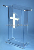2015 New Product High-Transparent Acrylic OEM Podium Lectern For Church