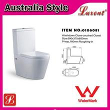 Low price Commode WaterMark ceramic siphonic one piece toilet bowl
