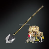 Best adveture tool for outdoor .survival steel spade axe saw with four steel reinforcement bar ,vehicle tuning equipment