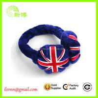 Custom Promotional Union Jack Plush Earmuffs