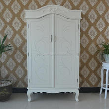 Modern white painted wardrobe french provincial furniture