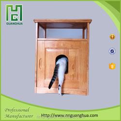 multifunction hidden wooden cat furniture private label pet supplies