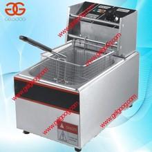 Stainless Steel 6L Deep Fryer Snack Frying Machine Chicken Nugget Continuous Fryer Machine