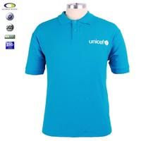 Manufacturer Customized long sleeve cvc polyester cotton blend polo t-shirt