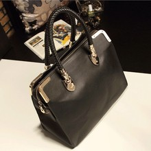 Bz1245 Korean fashion black briefcase handbag women Cross body bags 2015