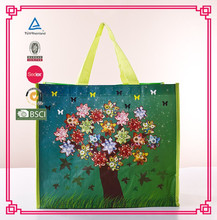 durable excellent quality grocery recycled CMYK printing OPP lamination PP woven shopping bag