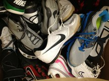 used athletic shoes