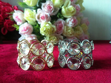wholesale high quality crystal rhinestone napkin ring with elastic crystal strass napkin ring