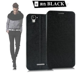 2014 Newest factory price YUSI series mobile phone flip leather case for Micromax Yu Yuphoria
