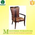 Diseño Popular MDC-1128 cuero respaldo alto acento silla de comedor