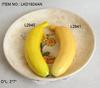 high quality artificial foam fruits banana realistic artificial banana on display