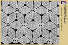 gs14127 gloria pizzo disegno fiocco di neve poliestere bianco pizzo tessuto chimico