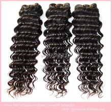 wholesale unprocessed human hiar weaves brazilian virgin hair deep wave