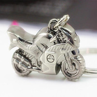 New Fashion Cute Classic 3D Simulation Motorcycle Motorbike Keychain Key Chain Ring Keyring Key Fob Gift