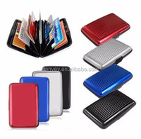 Pocket Waterproof Business ID Credit Card Wallet Holder Aluminum Metal RFID Case