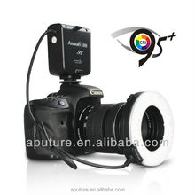 CRI 95+ macro ring flash for Canon/Nikon, come with 8pcs lens adapter ring