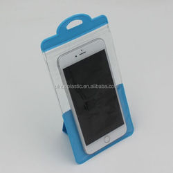 PVC Stand Eco-Friendly Cellphone Waterproof Plastic Bag
