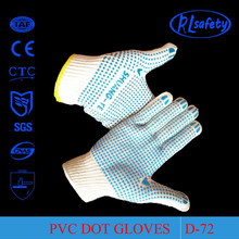 RL Safety Sure-Grip seamless-knit gloves have over five-hundred PVC grip dots