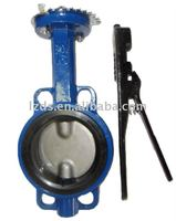 Wafer butterfly valve PN10/16 With handle lever&worm gear