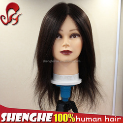 SH Ye Wholesale Female Hairdresser training head mannequin head with training wig