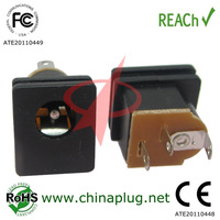 Female magnetic dc power jack connector