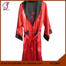 2001 Chinese Reversible Embroidered Dragon Plus Size Men Bath Robe, Silk Kimono Robe Mens Bathrobe Men Sleepwear