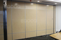 Office acoustic wooden sliding partition door
