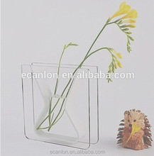 hand pressed clear acrylic glass vase