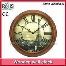 Woodpecker 3D dial wooden quartz wall clock