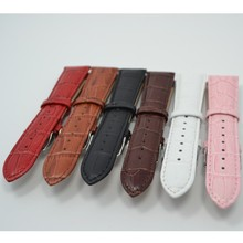Superior leather ribbon watch bands with smooth feeling