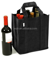 2015 popular 6 pack promotional recycle new style pp non woven wine bags