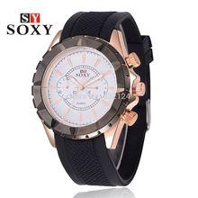 Man Luxury Watch New SOXY Brand Sport Silicone Fashion and Casul watch band Reloj Hombre Quartz Wrist watch relogio Male Clock