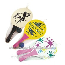 Wholesale alibaba wooden beach racket set/beach ball racket of three best selling patterns