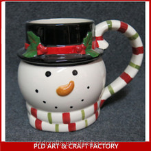 Ceramic christmas mug Wholesales/Christmas Snowman Shape coffee cups large capacity christmas cups