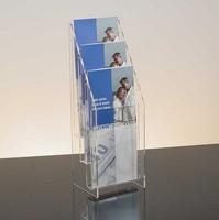 Custom 4 Tier Acrylic Brochure/Leaflet Display Organizer Stand/Rack/Holder/Shelf