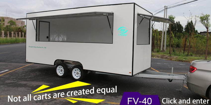 2016 hot sales best quality New model mobile bbq food van for sale ...