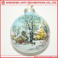 Hand Painted Christmas ball with snow flake