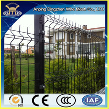 "Elegant black powder coated fence, ""V"" shape pressed welded wire mesh panel made in China"