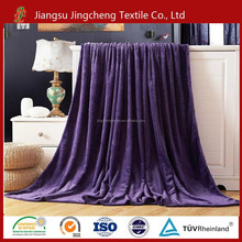 Supply Polyester Plain Dyed Flannel Fleece pure color Blanket