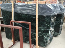 Polished big slab Nature Dark Green Marble