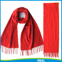 red color 100% felling silk men's scarf